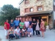 Grupo de profesores y alumnos del curso de verano de la UNED impartido en Agosto de 2012 en El Barco de Ávila