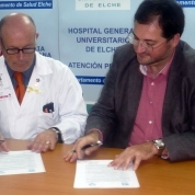 Firma del convenio con la Fundación Biomédica del Hospital General de Elche